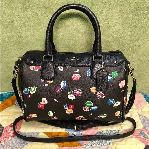 b326872d6d Coach Handbags - COACH WILDFLOWER PRINT MINI BENNETT SATCHEL BAG